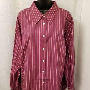 Karen Scott NWOT Multi Color Striped Button Shirt